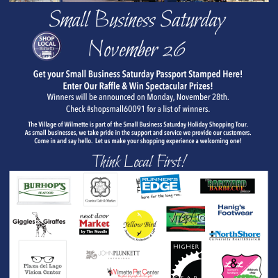 Small Business Saturday, November 26