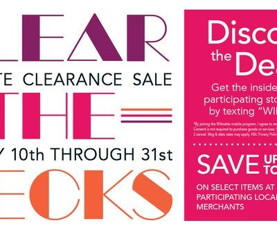 "Wilmette's January Sale – ""Clear the Decks"""