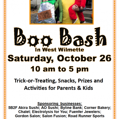 West Wilmette Boo Bash on Saturday, October 26!
